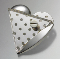brooch/silver/glass by Aki Ichiriki
