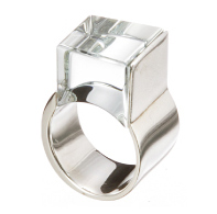 ring/silver/glass by Aki Ichiriki